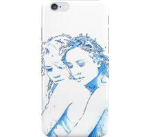 Women Hug - blue iPhone Case/Skin