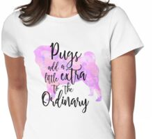 Extraordinary Pug Watercolor Womens Fitted T-Shirt