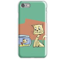 Eyes on the prize Cat iPhone Case/Skin
