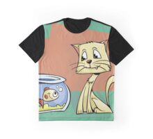 Eyes on the prize Cat Graphic T-Shirt