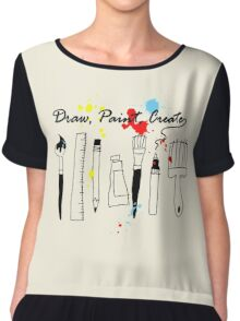 Draw Paint Create   Chiffon Top