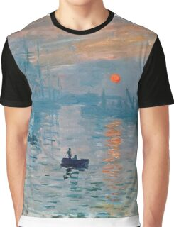 Claude Monet - Impression Sunrise 1872 Graphic T-Shirt