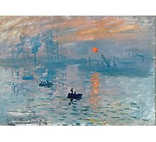 Claude Monet - Impression Sunrise 1872 Photographic Print