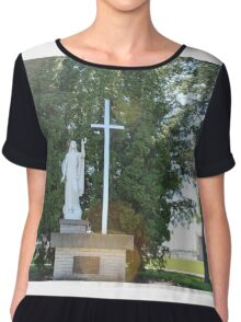 St. Andrews Cemetery Chiffon Top