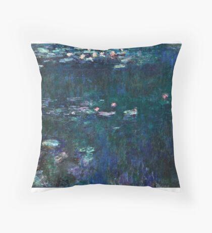 Claude Monet - The Water Lilies - Green Reflections (1915 - 1926)  Throw Pillow
