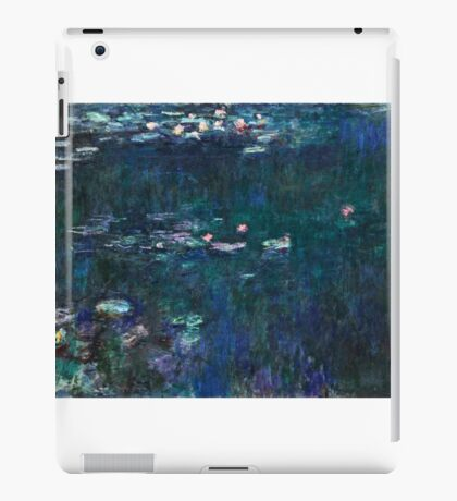 Claude Monet - The Water Lilies - Green Reflections (1915 - 1926)  iPad Case/Skin