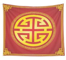 Oriental chinese design elements Wall Tapestry