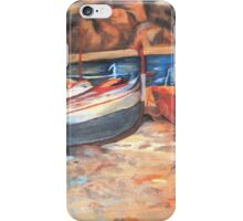 Boats on shore iPhone Case/Skin