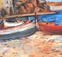 Boats on shore by ISABEL ALFARROBINHA