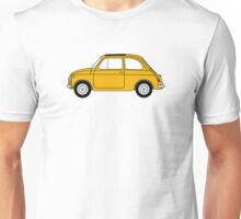 Fiat 500 Yellow Unisex T-Shirt