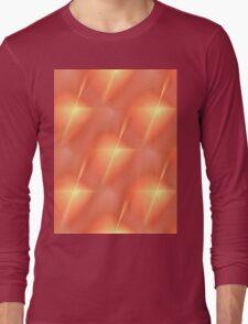 Fractal Orange Star Long Sleeve T-Shirt