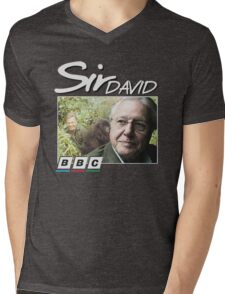 David Attenborough 90s Tee Mens V-Neck T-Shirt