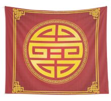 Oriental Design Elements Two Wall Tapestry