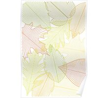Green Leaves Fall Poster