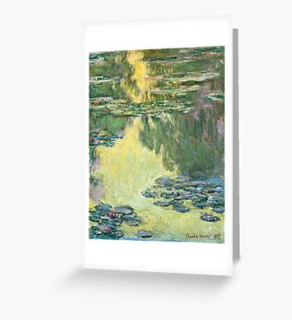 Claude Monet - Waterlilies (1907)  Greeting Card