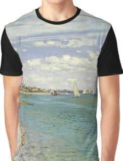 Claude Monet - Regatta At Sainte Adresse 1867 Graphic T-Shirt