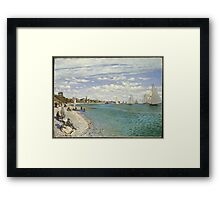 Claude Monet - Regatta At Sainte Adresse 1867 Framed Print