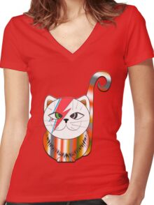 MIMI KITWY Women's Fitted V-Neck T-Shirt