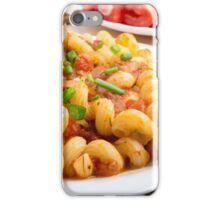 Cooked pasta cavatappi with vegetables sauce closeup iPhone Case/Skin