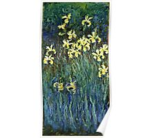 Claude Monet - Yellow Irises ( 1914 -  1917)  Poster