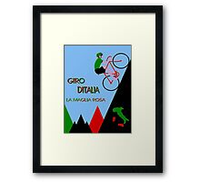 """GIRO D ITALIA BICYCLE"" Racing Advertising Print Framed Print"