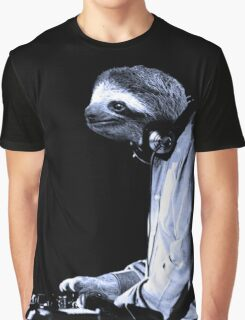 DJ Sloth Graphic T-Shirt