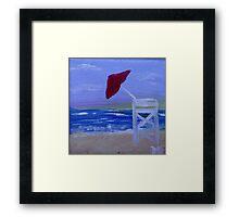 Lifeguard Morning Framed Print