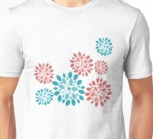 Flower Flurries Green Unisex T-Shirt