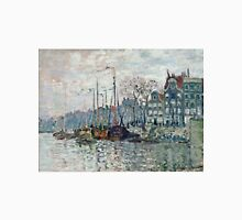 Claude Monet - View of the Prins Hendrikkade and the Kromme Waal in Amsterdam 1874  Unisex T-Shirt
