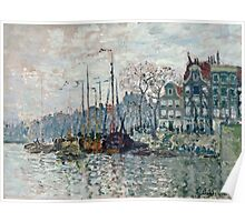 Claude Monet - View of the Prins Hendrikkade and the Kromme Waal in Amsterdam 1874  Poster