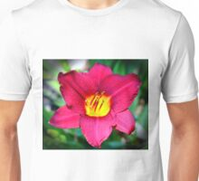 Vibrant Red Lily Unisex T-Shirt