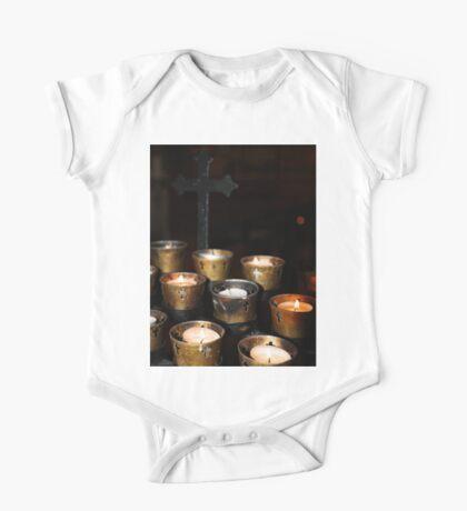 Church Candles One Piece - Short Sleeve
