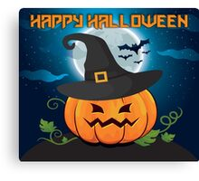 High Quality Happy Halloween Pumpkin Tapestry, Trick-or-Treat Bags and Cards  Canvas Print