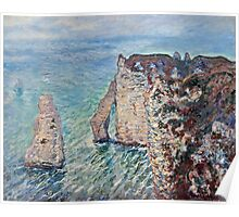 Claude Monet - The Rock Needle and the Porte dAval (1886)  Poster