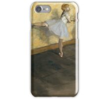 Edgar Degas - Dancers Practicing At The Barre 1877  iPhone Case/Skin
