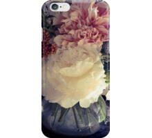 White Peony & Cafe Au Lait Dahlias iPhone Case/Skin