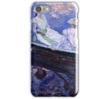 Claude Monet - On the Boat (1887)  iPhone Case/Skin
