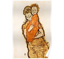 Egon Schiele - Mother and Child (1914)  Poster