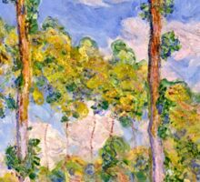 Claude Monet - Poplars in the Sun (1891)  Sticker