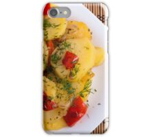 Top view of a vegetarian dish with organic vegetables iPhone Case/Skin
