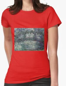 Claude Monet - The Japanese bridge (1919 - 1924)  Womens Fitted T-Shirt