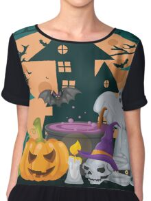 Halloween design Chiffon Top