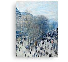 Claude Monet - Boulevard des Capucines (1873 - 1874)  Canvas Print