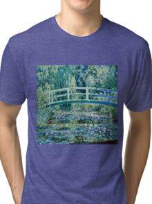 Claude Monet - Water Lilies and Japanese Bridge (1899)  Tri-blend T-Shirt
