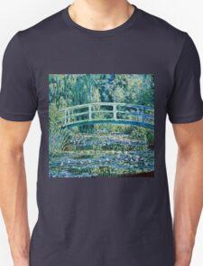 Claude Monet - Water Lilies and Japanese Bridge (1899)  Unisex T-Shirt