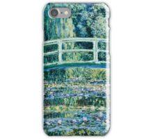 Claude Monet - Water Lilies and Japanese Bridge (1899)  iPhone Case/Skin