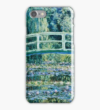 Claude Monet - Water Lilies and Japanese Bridge (1899)  iPhone Case/Skin