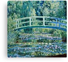 Claude Monet - Water Lilies and Japanese Bridge (1899)  Canvas Print