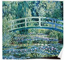 Claude Monet - Water Lilies and Japanese Bridge (1899)  Poster