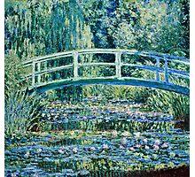Claude Monet - Water Lilies and Japanese Bridge (1899)  Photographic Print